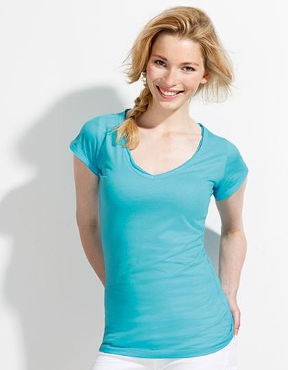 Damen Shirt V-Ausschnitt 1145
