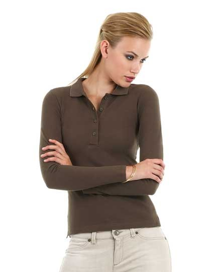 Langarm Poloshirt Damen 1456