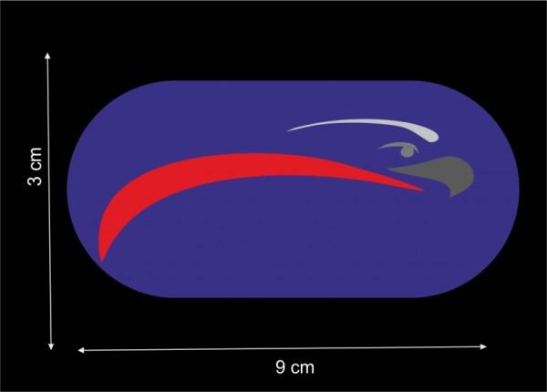 Vollflächige Stickerei bis 12 cm